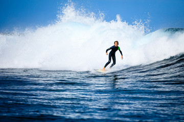 Youngsters learning to surf