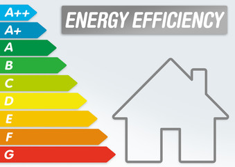 Illustration with energy efficiency classes