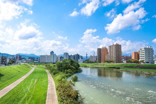 札幌 豊平川 河川敷