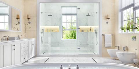 Large and beautiful bathroom