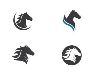 Horse Logo Template Vector illustration design