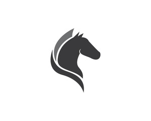 Horse Logo Template Vector illustration design