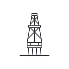 Fuel production line icon concept. Fuel production vector linear illustration, sign, symbol