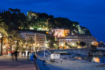 City of Nice by Night in France