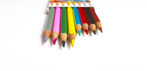 Pencils of various colors