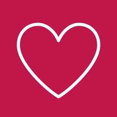 Heart Icon. Vector Line.