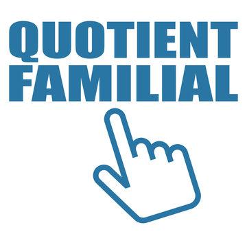 Logo quotient familial.