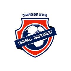 Soccer, football emblem. Design element for logo, label, emblem, sign.