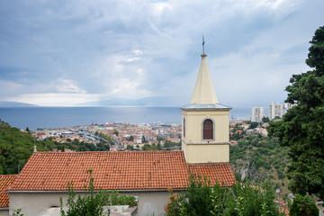 View on old Rijeka town. Croatia