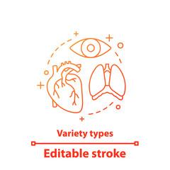 Internal organs concept icon