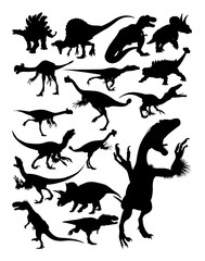 Dinosaur ancient animal silhouette. Good use for symbol, logo, web icon, mascot, sign, or any design you want.