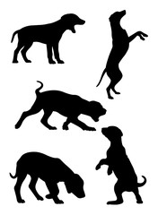 Dalmatian dog pet animal silhouette 02. Good use for symbol, logo, web icon, mascot, sign, or any design you want.