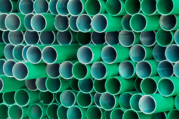 PVC water pipe section.