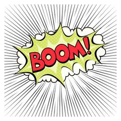 comic speech bubble with the phrase BOOM
