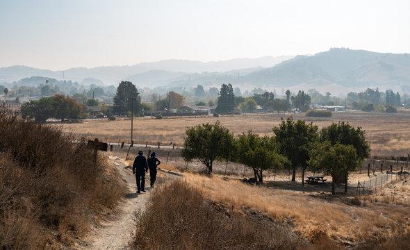 Wildfire Caused Smoke and Haze Obstructing the View , Santa Teresa County Park, San Jose, California