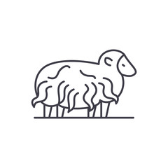 Ram line icon concept. Ram vector linear illustration, sign, symbol