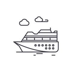 Ski resort line icon concept. Ski resort vector linear illustration, sign, symbol