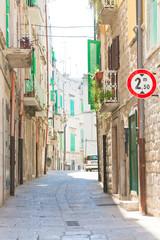 Molfetta, Apulia - Walking through an old alleyway in Molfetta