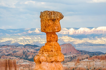 beautiful landscape in Bryce Canyon with magnificent Stone formation,