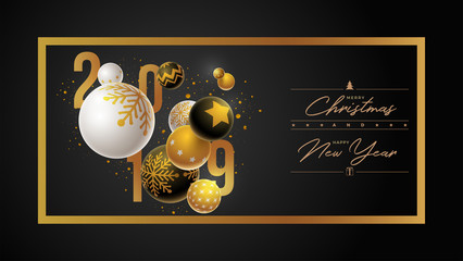 Christmas and New Year 2019 Design Template
