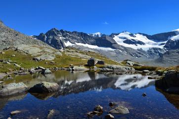 Foto op Aluminium Reflectie Lac des Evettes en Vanoise Bonneval-sur-Arc Alpes
