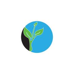Circle with grow seed logo