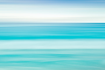 Empty sea and beach background with copy space, Long exposure, blur motion blue abstract gradient background