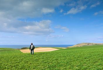randonnée sur la côte