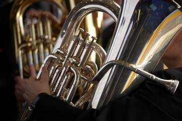 TUBA PLAYER IN BRASS BAND