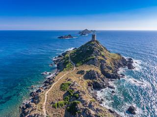 Ile Sanguinaires mit Tour de la Parata im Golf von Ajaccio auf Korsika
