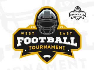 American Football tournament emblem, logo. Vector illustration.