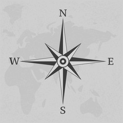 Wind rose compass vintage on background illustration