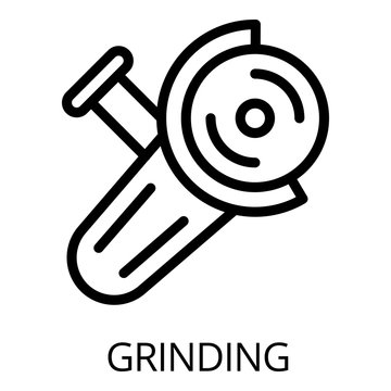 Grinding icon. Outline grinding vector icon for web design isolated on white background