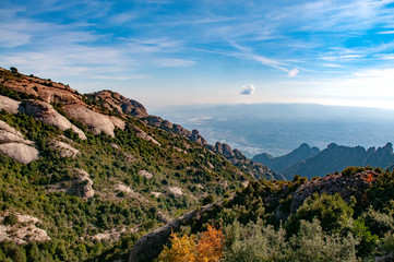 View from the mountains of Montserrat, Spain