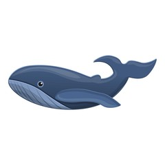Whale icon. Cartoon of whale vector icon for web design isolated on white background