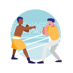 boxer and sparring training avatars characters