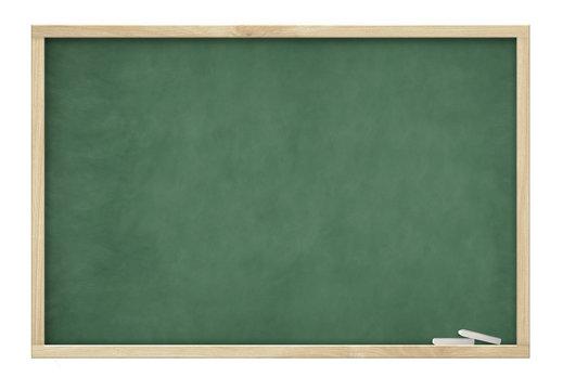big blank green slate blackboard