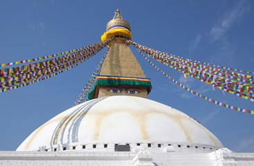Boudhanath, Boudnath, Boudha Stupa in Kathmandu, Nepal