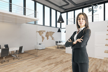 Attractive busiesswoman in modern office