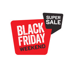 Black Friday Label and Flyer for Sale Advertising