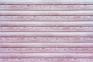 Light pink horizontal wooden planks as texture, background