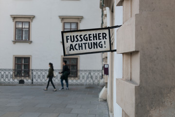 Achtung Fussgeher