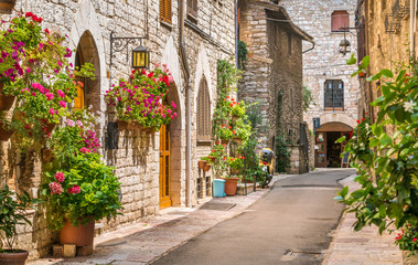 A picturesque sight in Assisi. Province of Perugia, Umbria, central Italy. Fototapete