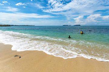 Turquoise water at Kota Kinabalu Beach Sabah Borneo Malaysia