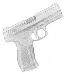 Gun drawn with pencil