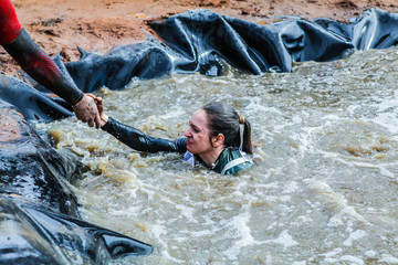 04.05.2017 Hero race .Russia.Moscow region. Alabino City.Russian army obstacle course race