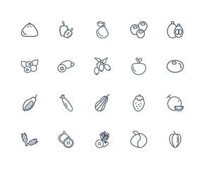 Carambola, Peach, Coconut, Fig, Arugula, Loquat, Yuzu, Butternut