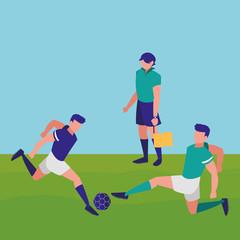 Soccer line referee design