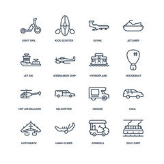 Golf cart, gondola, hang glider, hatchback, haul, light rail, Je