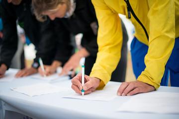 Menschen Unterschreiben Fototapete